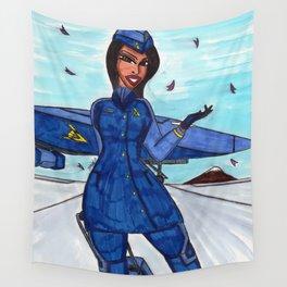 Flight to Winter Wonderland Wall Tapestry