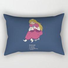 peach t0-do-list Rectangular Pillow