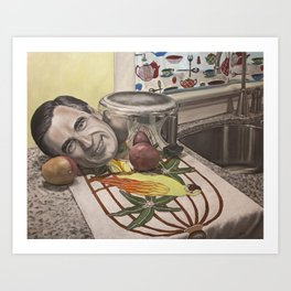Still Life with Fred Rogers and Mangoes Art Print