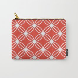 Abstract Circle Dots Red Carry-All Pouch