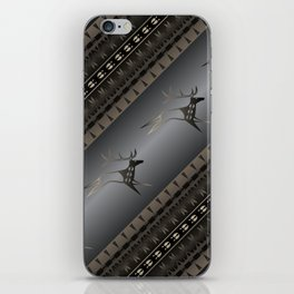 Elk Spirit (Gray) iPhone Skin
