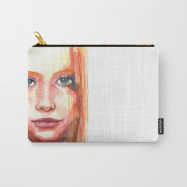 Portrait - RedHair & Freckles Carry-All Pouch
