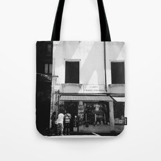Window shopping in Venice Tote Bag