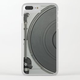 OLD SCHOOL VINYL VIBES Clear iPhone Case