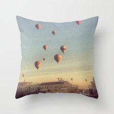 Cappadocian Hot Air Balloons Throw Pillow