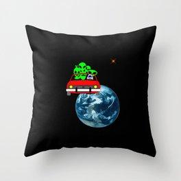 Ride to Mars selfie Throw Pillow
