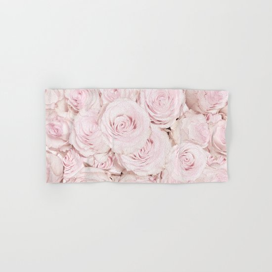 Roses have thorns- Floral Flower Pink Rose Flowers on #Society6 Hand & Bath Towel