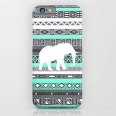 Tiffany Aztec White Elephant Pattern Design iPhone 6 Slim Case
