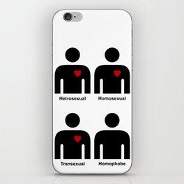 HEARTLESS HOMOPHOBE iPhone Skin