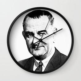 President Lyndon Johnson Graphic Wall Clock