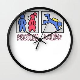 Hilarious Problem Solve Tshirt Design Scuba diving Wall Clock