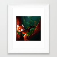 bed Framed Art Prints featuring Bed by Joelle Murray