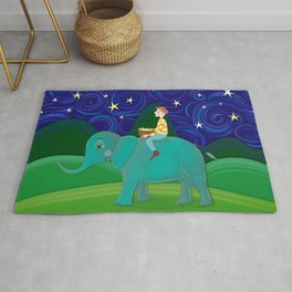 The Elephant and the Stars Rug