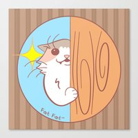 fat Canvas Prints featuring Fat Fat Peeks by Fat Fat