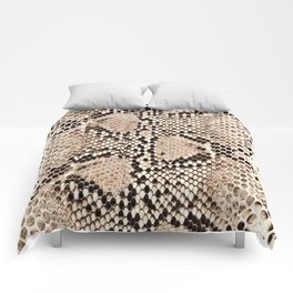 Snake skin art print Comforters