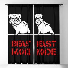 Beast Mode English Bulldog Blackout Curtain