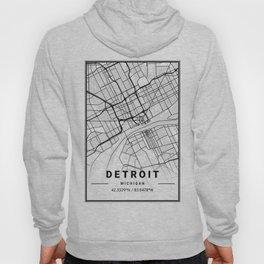 Detroit Light City Map Hoody