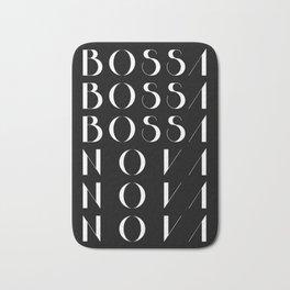 Bossa Nova 1 Black Bath Mat