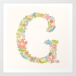 Alphabet G Art Print