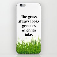 grass iPhone & iPod Skins featuring GRASS by C O R N E L L