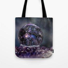 Amethyst Crystal Ball Water Drop Tote Bag