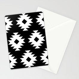 Southwestern Pattern 821 Black and White Stationery Cards