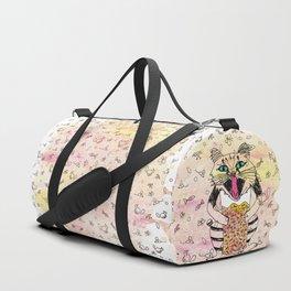 Emotional Cat. Graphic Joy. Duffle Bag