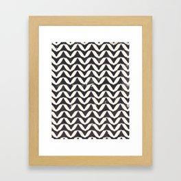 Herringbone-Navy Framed Art Print