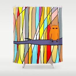 meditation animal Shower Curtain