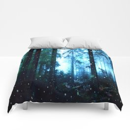 Fireflies Night Forest Comforters