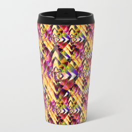 Number 1 Abstract by Mark Compton Travel Mug