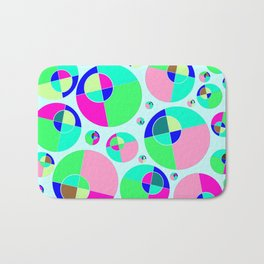 Bubble pink & green Bath Mat