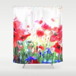 Poppy Haze Shower Curtain