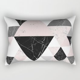 Triangle pattern modern geometric abstract ll Rectangular Pillow