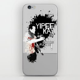 Movie Quote with-a-gun 2 iPhone Skin