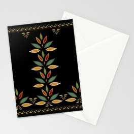 """""""Tree of Polka Dots Leaves (Black)"""" Stationery Cards"""