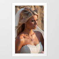 bride Art Prints featuring Bride by Rory Trappe