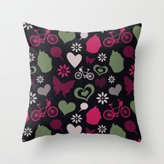 I Heart Patterns #008 Throw Pillow