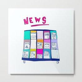 The News Metal Print