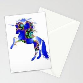 Magic Blue Unicorn Stationery Cards
