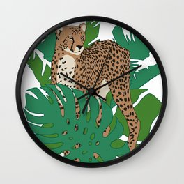 Cheetah Jungle Wall Clock