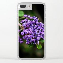 Vignette Violette Clear iPhone Case