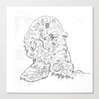darwin Canvas Prints featuring darwin by Bern