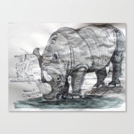 Rhinocerotidae Canvas Print