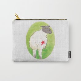Haruki Murakami's A Wild Sheep Chase // Illustration of a Sheep with a Red Star in Watercolour Carry-All Pouch