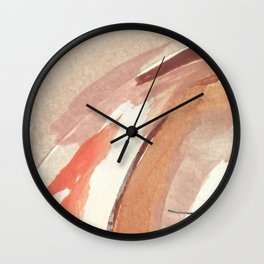 Aly: minimal | pinks | white | black | mixed media | abstract | ink | watercolor | wall art Wall Clock