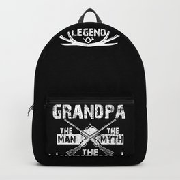 Mens Grandpa The Man The Myth The Hunting Legend design for Dads Backpack