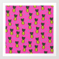 pineapples Art Prints featuring Pineapples by Sandra Arduini