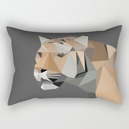 Tiger Illustration Rectangular Pillow
