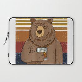 That's Was I Do I Drink Bourbon I hate People I Know Things Funny Camping Gift tshirt Laptop Sleeve